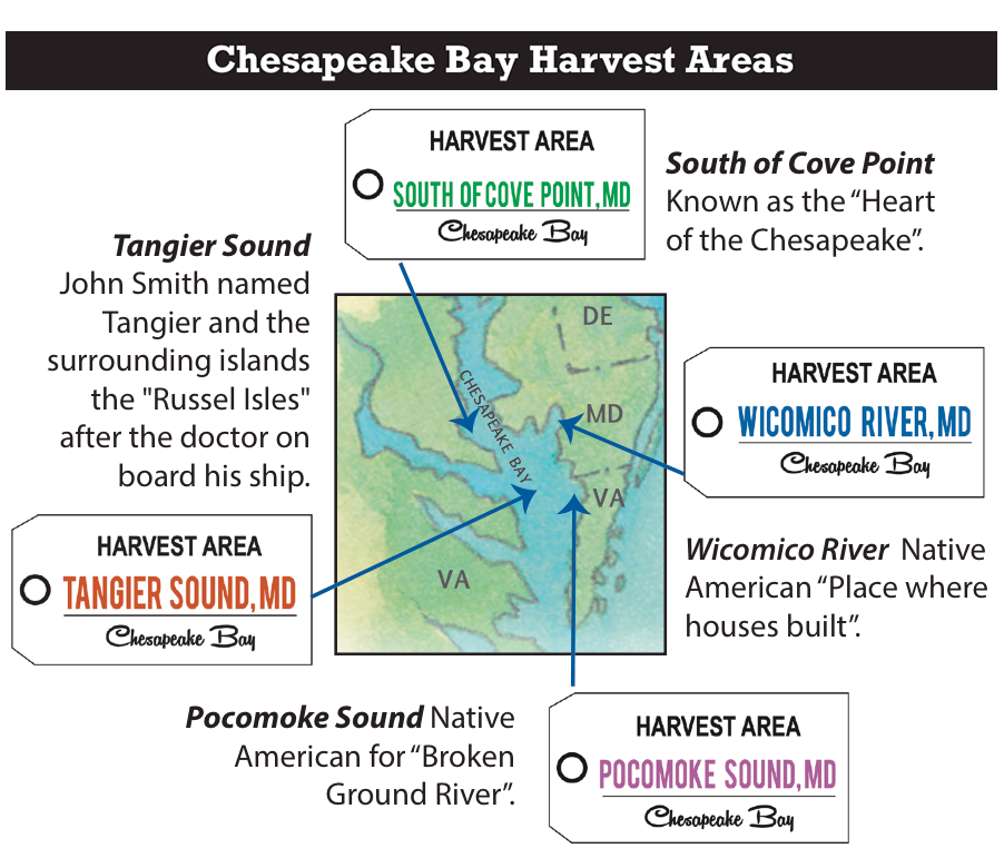 Chesapeake Bay Harvest Areas