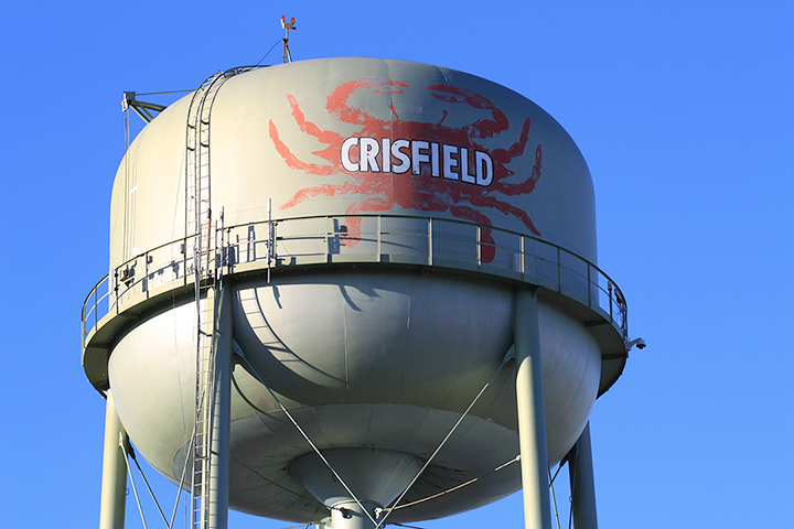 Iconic water tower in Crisfield, MD. Original home of Handy International