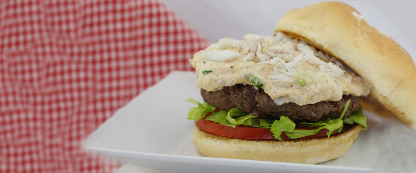 Cheesy Crab Dip Burger Recipe