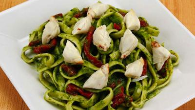 Chimichurri Crab & Roasted Red Pepper Pasta Recipe