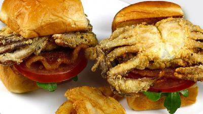 Chimichurri Soft Shell Crabs BLT