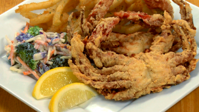 Deep Fried Soft Crabs